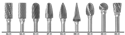 1855 9PC CARBIDE BUR SET